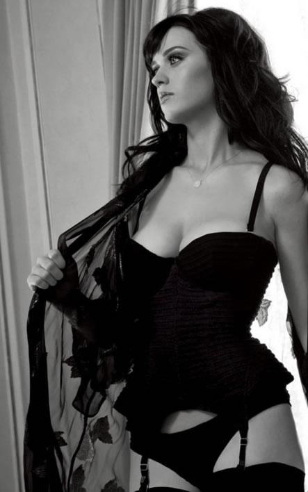 Katy Perry in Black Lingerie